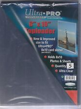"""Ultra-PRO 8""""x10"""" Toploader with soft sleeves x 3 """"great for photos lobby cards"""