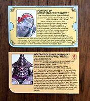 Super Shredder & Movie Foot Soldier TMNT Ninja Turtles Figure File Bio Card Lot