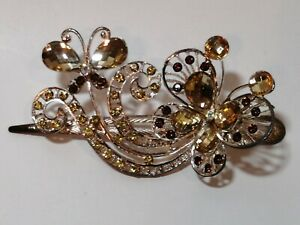 New woman Large metal gold bling paisley butterfly claw clip