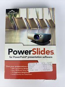Summitsoft PowerSlides Presentation Software Sealed Missing UPC Code Cut Out Box