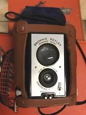 Brownie Reflex Camera Synchro Model Leather Case Eastman Kodak Co. Roch N.Y. USA