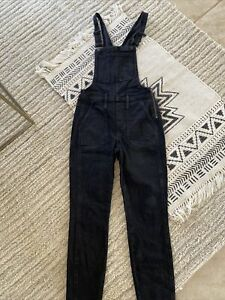 Madewell skinny blacn overalls size xs