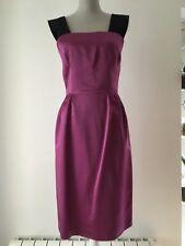 D&G Fuchsia Purple Pink Dress Satin With Black Velvet Straps Size S UK 10