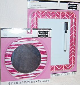 BRAND NEW CREATOLOGY LOCKER MAGNETIC WHITEBOARD & MIRROR PINK/RED SPARKLE WT