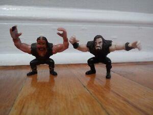 "Undertaker & Mankind Vintage WWF Playmates Grudge Match 2"" Figures Set 1997 90s"