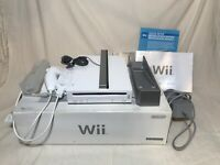 Nintendo Wii White Console Complete With Original Box And Manuals tested NO GAME
