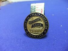 vtg badge employment 4271 stoke trent education committee ww home front ? lapel