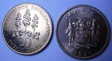 JAMAICA 20 Cents 1976 Fao   UNC