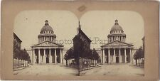 Panthéon Paris France Photo Stéréo Vintage albumine ca 1860-65