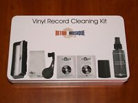 RETRO MUSIQUE VINYL RECORD CLEANING KIT TURNTABLE ACCESSORIES BRUSH SOLUTION