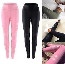 fashion Women High Waist Yoga Fitness Legging Gym Stretchy Sports Slim Trousers