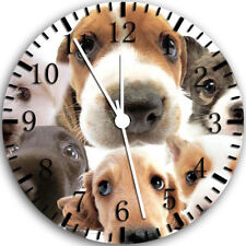 Cute Puppy Dog Face Frameless Borderless Wall Clock Nice For Gifts or Decor W71