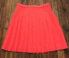 J.CREW Stitched Down Pleated Mini Skirt 00 Coral Fully Lined C5625