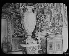 Glass Magic Lantern Slide THE VATICAN - VASE IN LIBRARY C1900 ROME ROMA