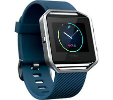 FITBIT Blaze Sports watch - Blue Monitors sleep and heart rate Large Size