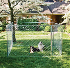 Chain Link Dog Kennel XXL Outdoor 10x10x6 Steel Cage Small Medium Large Animal