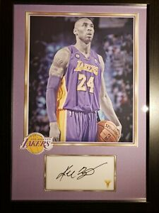 Kobe Bryant Los Angeles Lakers NBA basketball signed autograph photo wall plaque