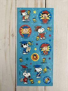 Snoopy + Woodstock + Lucy + Linus Graduation Single Sheet New Stickers Free Ship