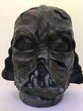Darth Vader Artist ORIGINAL Wood Mask Helmet Sculpture Star Wars Artwork - RARE