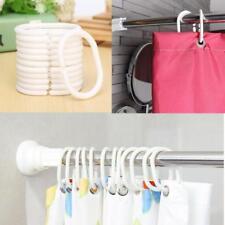 12X Weiß Duschvorhang Haken Aufhänger Kunststoff Bad drapieren Schleife Haken