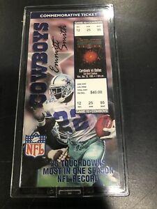 Emmitt Smith Dallas Cowboys commemorative ticket 1803/10000