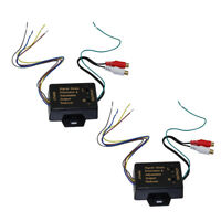 2x Replacement Car Speaker Audio RCA Adapter High to Low Level Converter