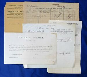 PRE WW2 BENDIGO SANDHURST LETTER HEAD PAPERS; COUNCIL RAILWAYS ABBOTT BANK & ETC