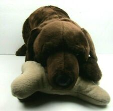 FAO Schwarz Plush Dog with Bone
