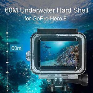 GoPro 8 Hero Custodia rigida impermeabile subacquea da 60m protettiva QR4T5 Z8L1