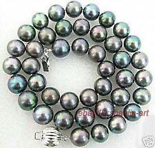 cadeau d'anniversaire ! 8-9mm, natural, noir , perles de culture,collier,45cm