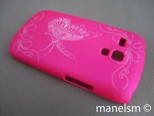 Funda Carcasa dura Mariposa Rosa Fucsia para Samsung Galaxy S3 Mini (i8190)
