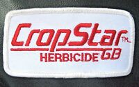"""CROP STAR HERBICIDE EMBROIDERED SEW ON PATCH FARM ADVERTISING UNIFORM 4"""" x 2"""""""