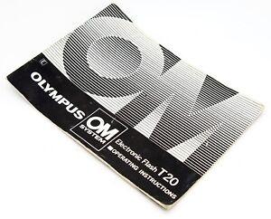 Olympus OM System T20 Electronic Flash Operating Manual, UK Dealer