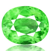 1.37ct 100% Natural earth mined top quality aaa green color tsavorite garnet