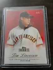 2012 Topps Tribute Tim Lincecum Red Parallel Base #4/5 MINT very rare
