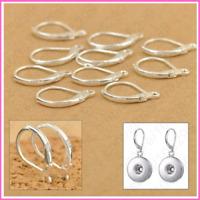 100PCS 925 Sterling Silver DIY Beadings Findings Earring Hooks Leverback Earwire