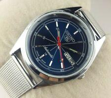 VINTAGE SEIKO 5 EXCELLENT BLUE DIAL  AUTOMATIC JAPAN MEN'S  WRIST WATCH MN.