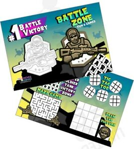 Pack of 12 Battle Zone Fun and Games Activity Sheets COD Party Bag Star Fillers