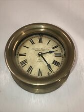 Ship's Time Brass Porthole Nautical Clock Panama Pacific Steamships Timeworks