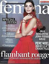 VERSION FEMINA N°715 14 DECEMBRE 2015 SPECIAL FETES/ BACRI/ PERE-NOEL/MODE ROUGE