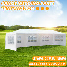 10X 30ft Canopy Wedding Party Tent Gazebo Pavilion w/5 Walls Cover Outdoor  h