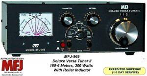 MFJ-969 DELUXE VERSA TUNER II, HF Plus 6 Meters 300 Watt With Roller Inductor
