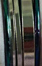 NWT Decree Bracelets, Set of 7 Flat Shiny Gold Tone & Rounded Purple Bangles