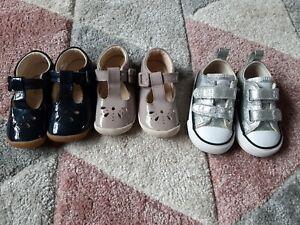 Infant girls clarks shoes size 4  converse  bundle
