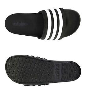 NEW Adidas Slippers Adiletee CF Supercloud M Beach Shoes Black Slip GYM AQ4935
