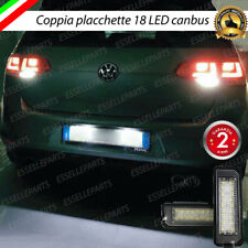 COPPIA PLACCHETTE LED TARGA 18 LED VW GOLF MK7 7 VII CANBUS ULTRALUMINOSI