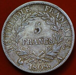 France 5 Francs 1808 A Napoleon I KM#686.1 no2402