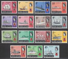 Gibraltar 1967 QEII Ships Set Used SG200-213 cat £55