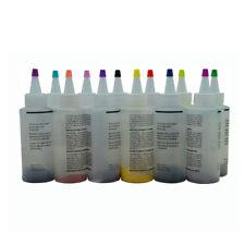 12 Colour Bottle Tie Dye Kit + 40 Rubber Band + 4 Pairs Vinyl Gloves DIY Kit GN