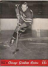 1944-45 Chicago Black Hawks-Canadiens Program Habs Edge Hawks GEM!!